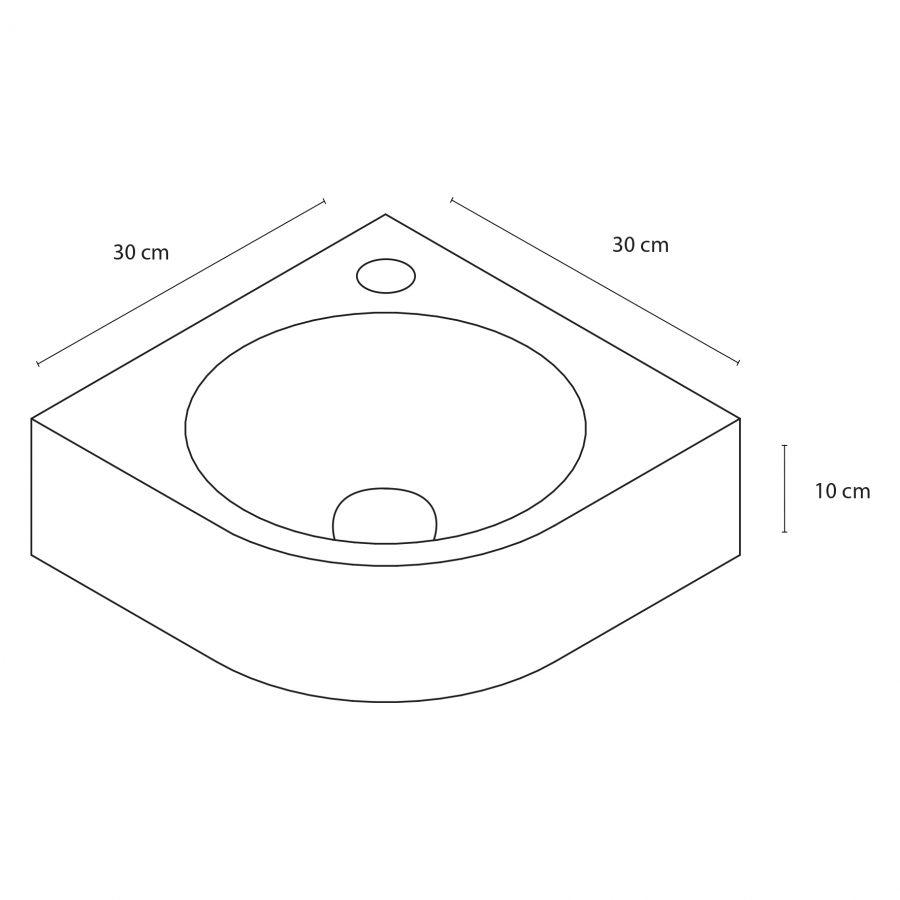 Cleo fonteinset - Keramiek - Kraan gebogen mat zwart