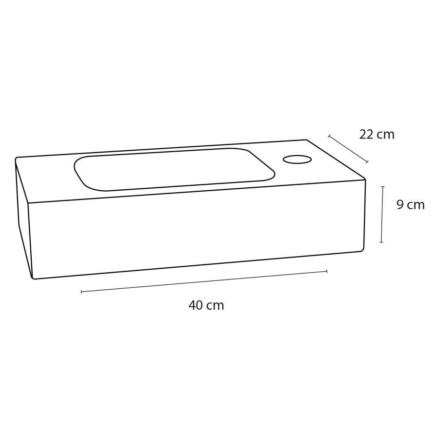 Fonteinset Bombai black - Natuursteen - Kraan gebogen mat chroom