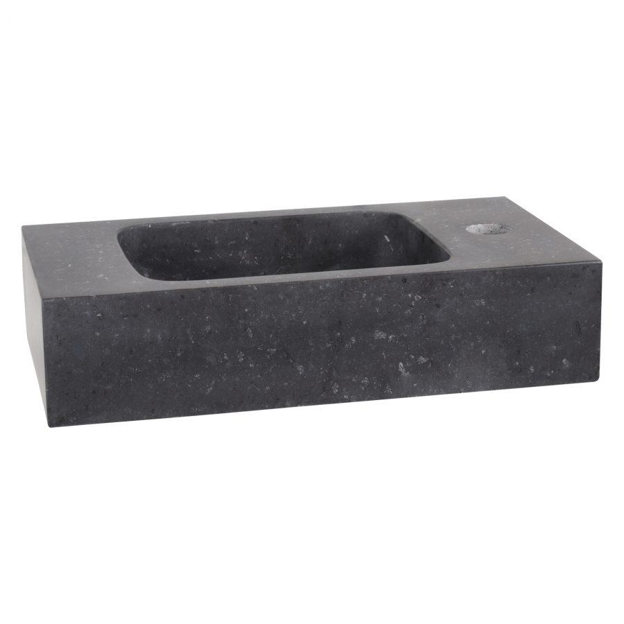 Fonteinset Bombai black - Natuursteen - Kraan recht rood koper