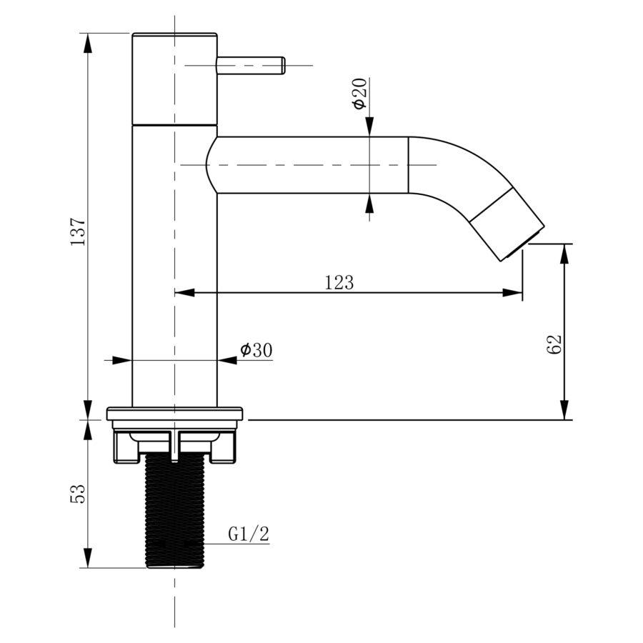 koudwaterkraan-gebogen-mat-zwart_2