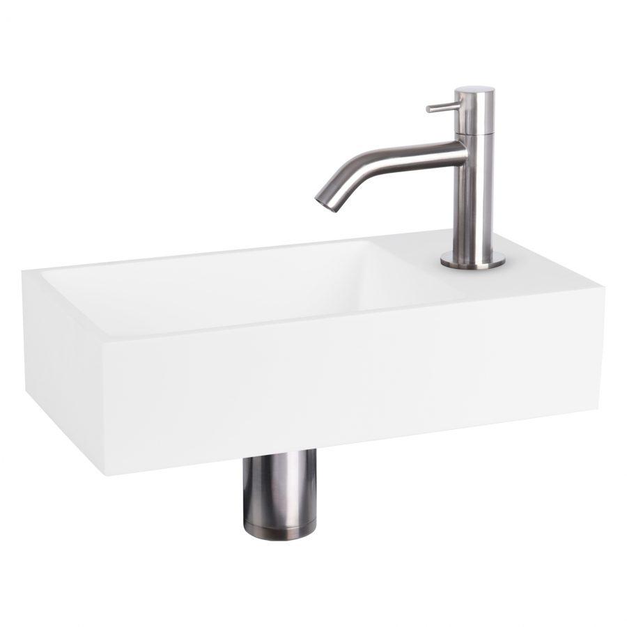 solid-fonteinset-solid-surface-kraan-gebogen-mat-chroom