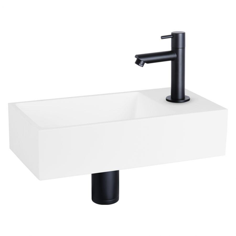solid-fonteinset-solid-surface-kraan-recht-mat-zwart