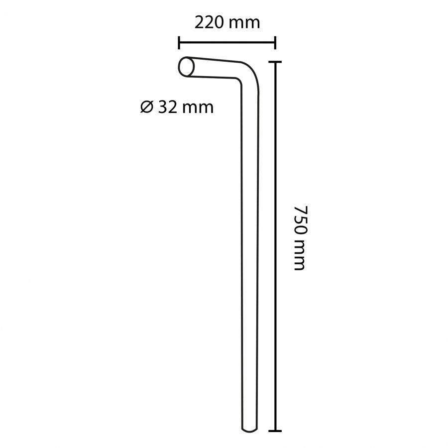 vloerbuis-32 mm-75cmx22cm-chroom_2