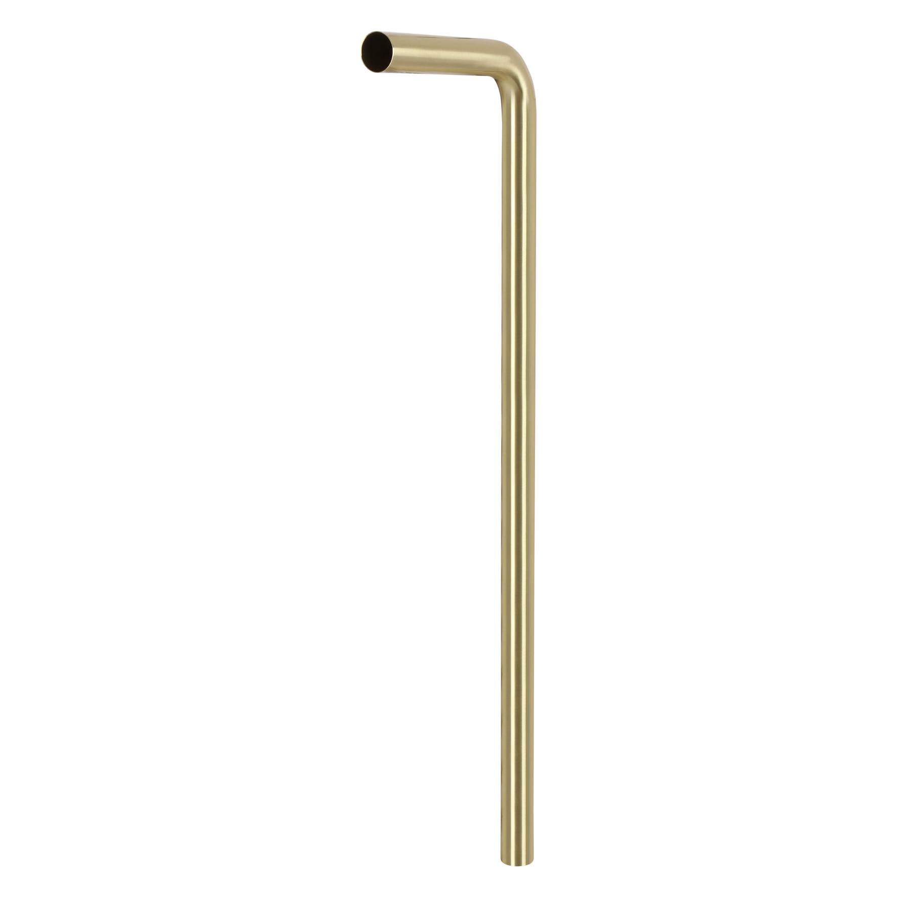 Vloerbuis - diameter 32 mm - 75 cm x 22 cm - Mat goud