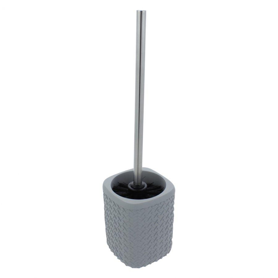 wafel toiletborstelhouder grijs
