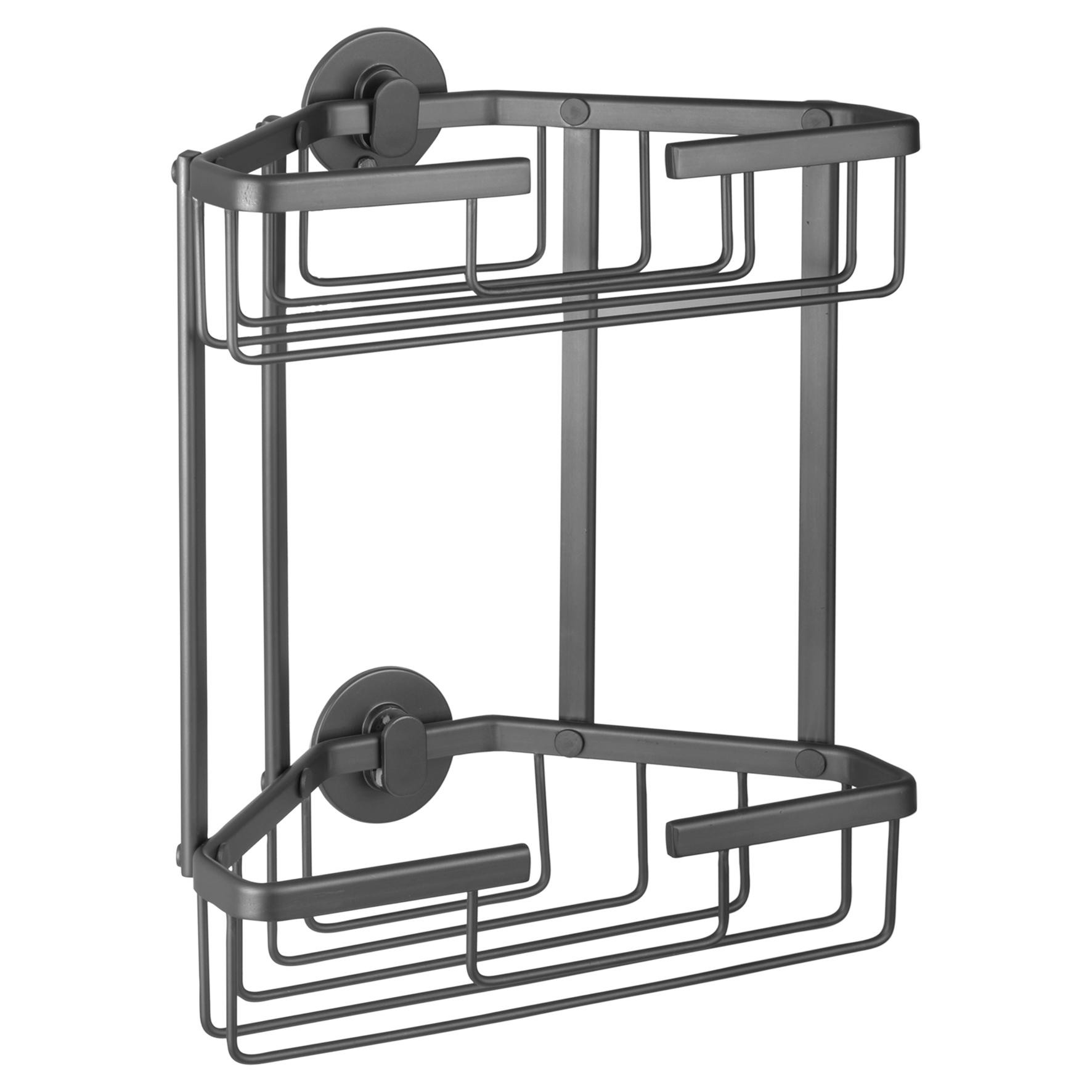 Differnz draadmand - driehoek 2-laags - aluminium - gun metal