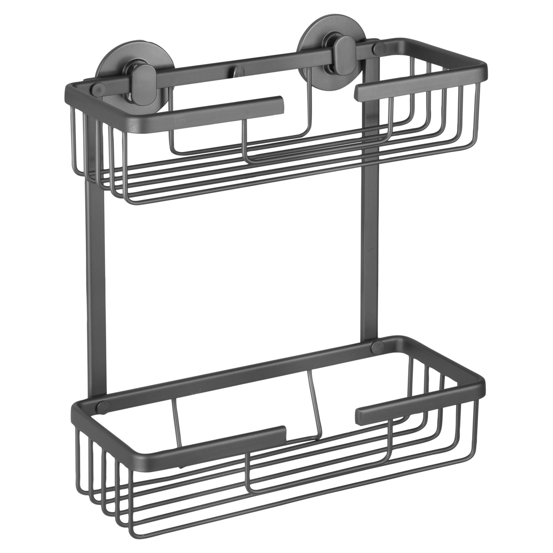 Differnz draadmand - rechthoek 2-laags - aluminium - gun metal