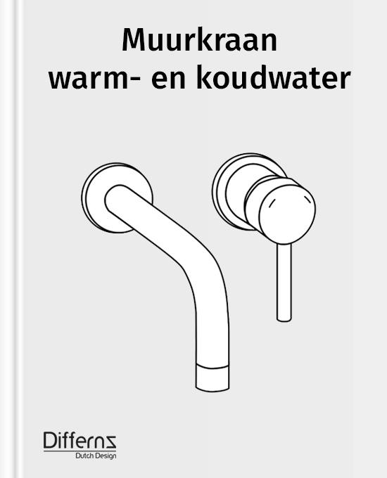 muurkraan warm- en koudwater