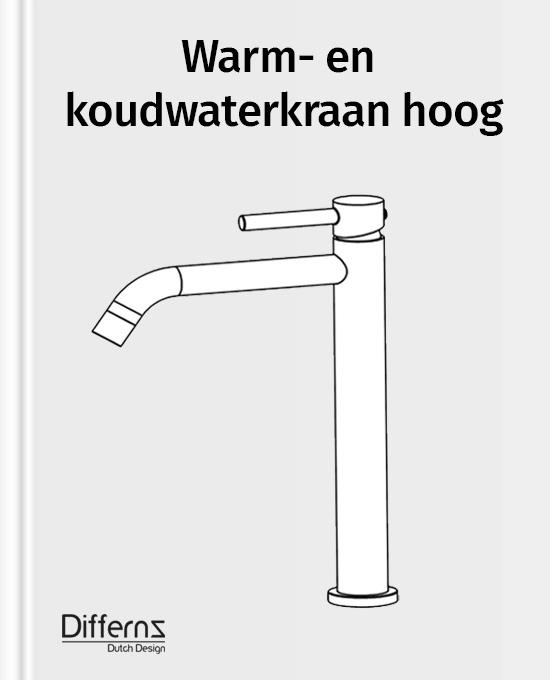 warm-en koudwaterkraan hoog